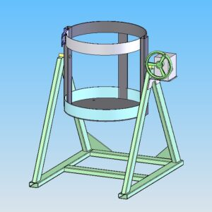 Модель поворотного каркаса для кремовалки